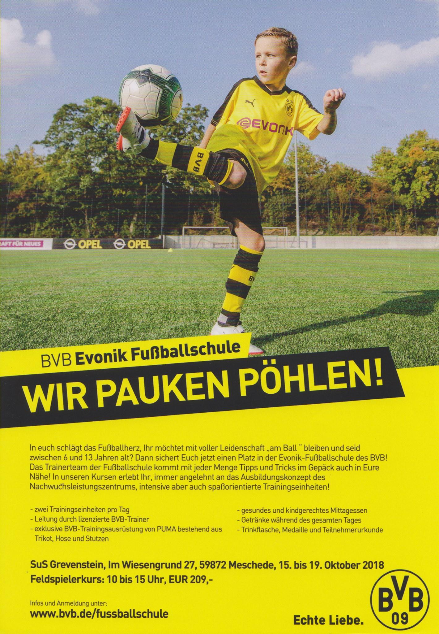 Die BvB Fußballschule in Grevenstein