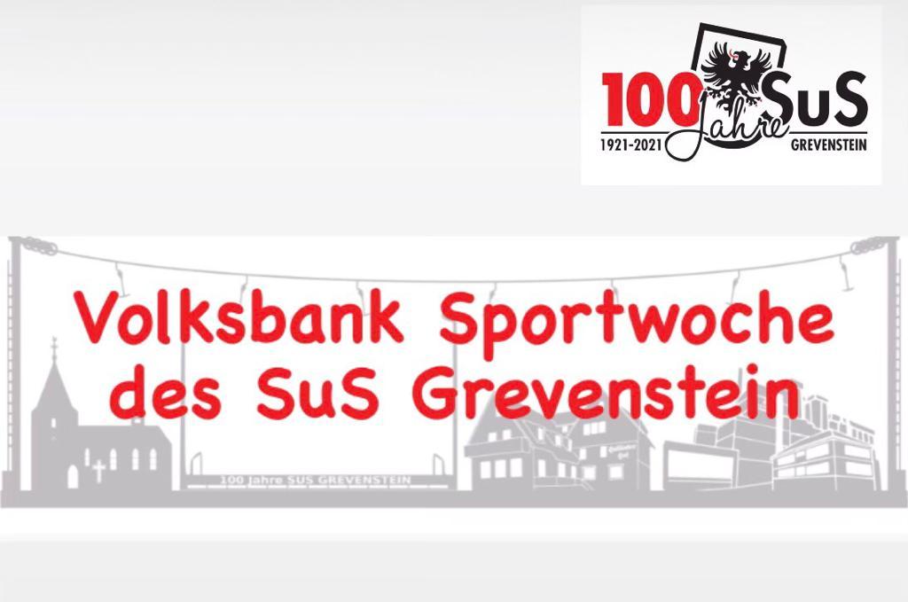 Logo der Volksbank Sportwoche des SuS Grevenstein 2021