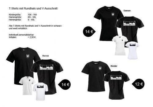 T-Shirts mit Rundhals und  V-Ausschnitt Herren